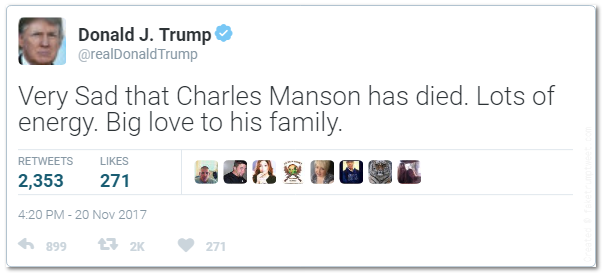 Orange Man Child Tweet